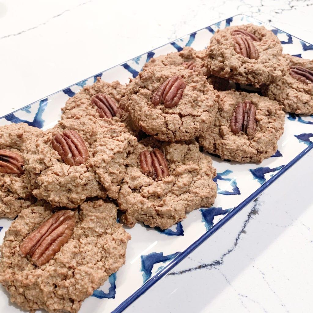 Gluten-Free Vegan Chai Pecan Cookies on a plate
